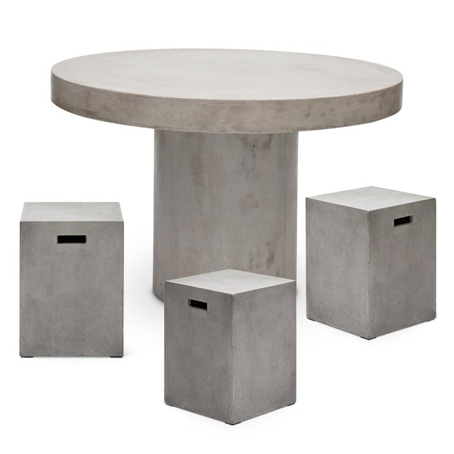 """2010s Dark Grey Circa 47"""" Dining Table For Sale - Image 5 of 7"""