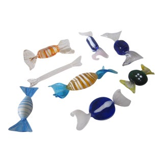 Vintage Murano Glass Candies - Set of 8 For Sale
