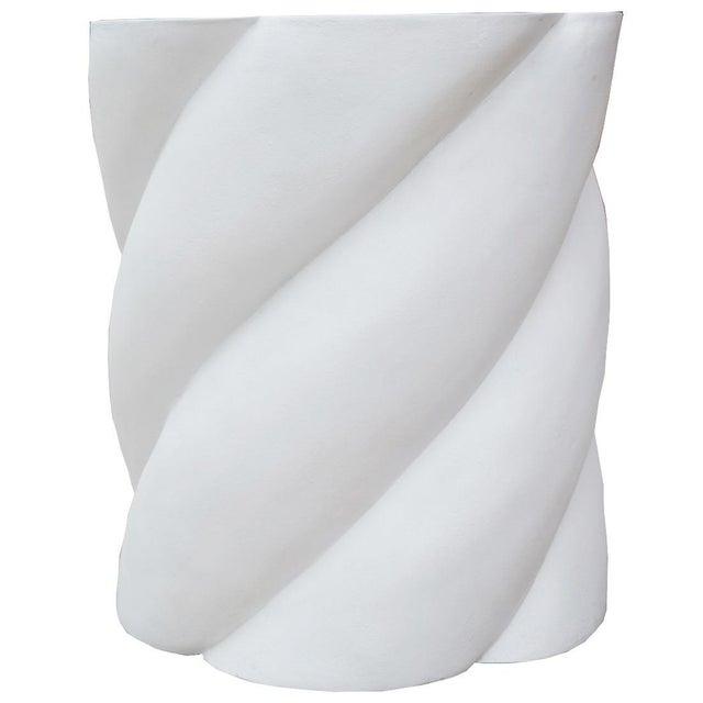 Molded Plaster Spiral Form Pedestal - Image 2 of 3