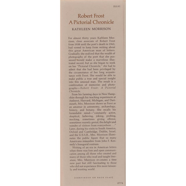 Vintage Robert Frost A Pictorial Chronicle Hardcover Book For Sale In Atlanta - Image 6 of 7