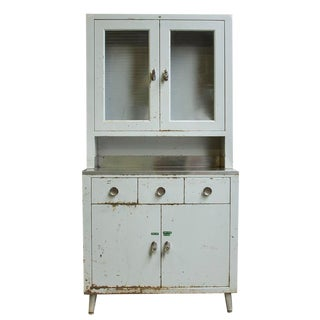Mid-Century Industrial Medical Cabinet For Sale
