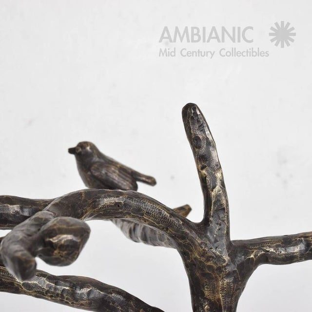 Mid-Century Modern Bronze Coat Rack After Giamcometti For Sale - Image 9 of 11