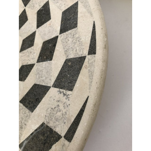 Large Vintage Tessellated Stone Platter For Sale In Tampa - Image 6 of 11