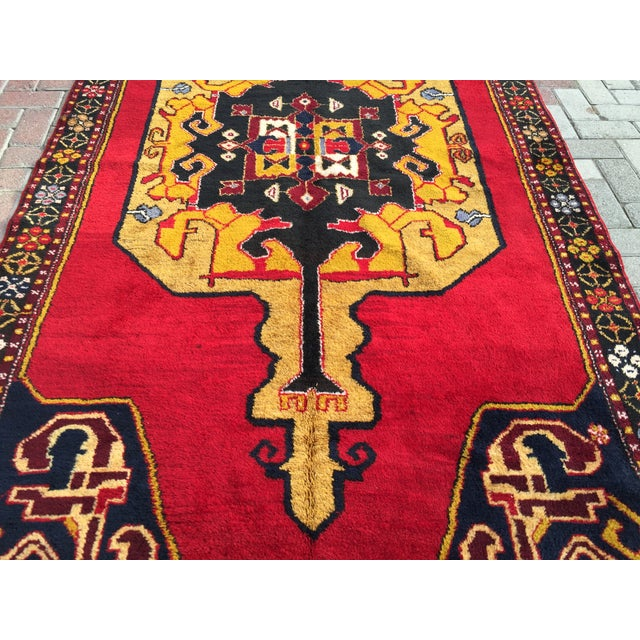 Vintage Anatolian Hand Knotted Rug - 5′1″ × 11′4″ For Sale - Image 5 of 7