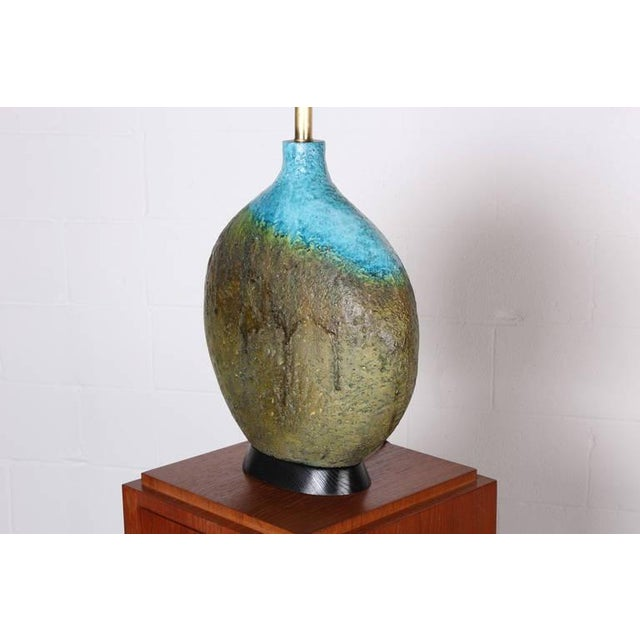 Large Ceramic Lamp by Raymor - Image 10 of 10