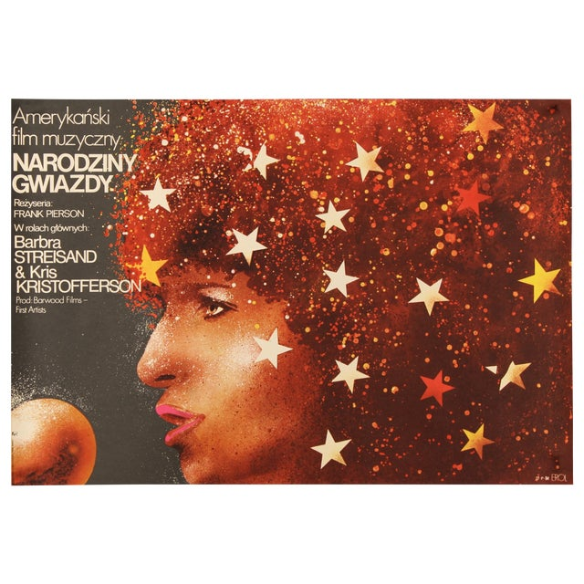 "Barbra Streisand ""A Star Is Born"" Polish Poster - Image 1 of 3"