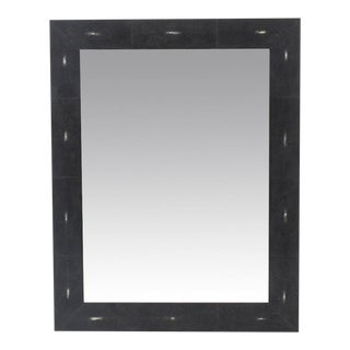 Genuine Black Shagreen Rectangular Mirror