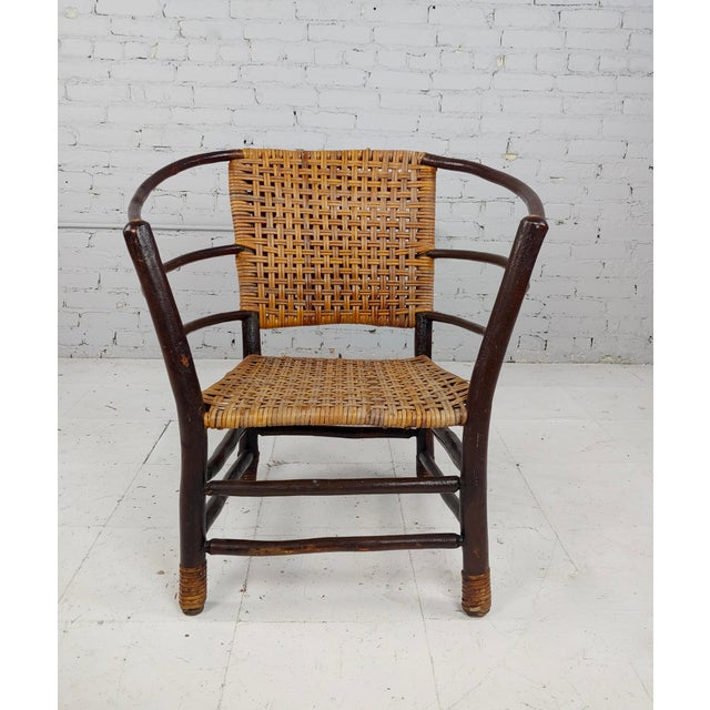 Antique 1920s Bentwood Settee and Chairs -Salon - Set of 3 For Sale - Image 9 of 12