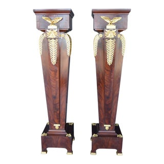 19th Century Empire Style Pedestals - a Pair For Sale