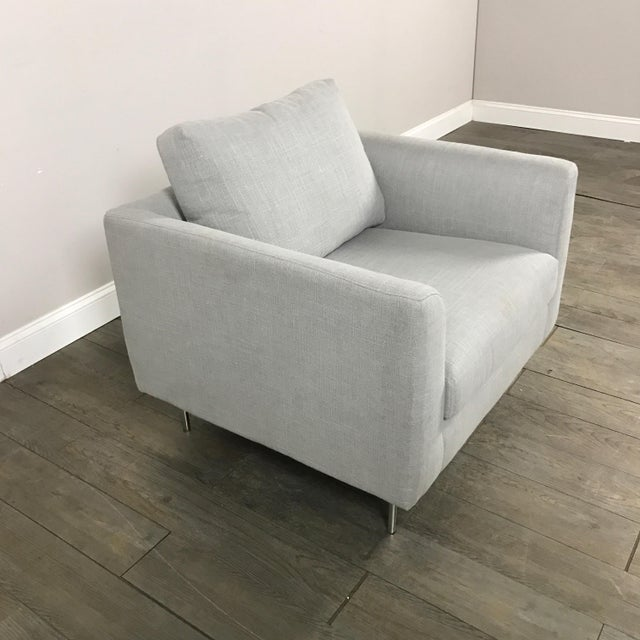 Clean Lined Modern Armchair - Image 8 of 11