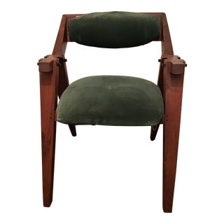 1980s Vintage Jeffrey Greene of New Hope Pa Walnut Chair For Sale