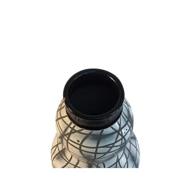Contemporary Black & White Patterned Vase - Image 5 of 5