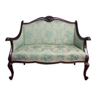 Late 19th Century Antique Rococo Victorian Settee For Sale