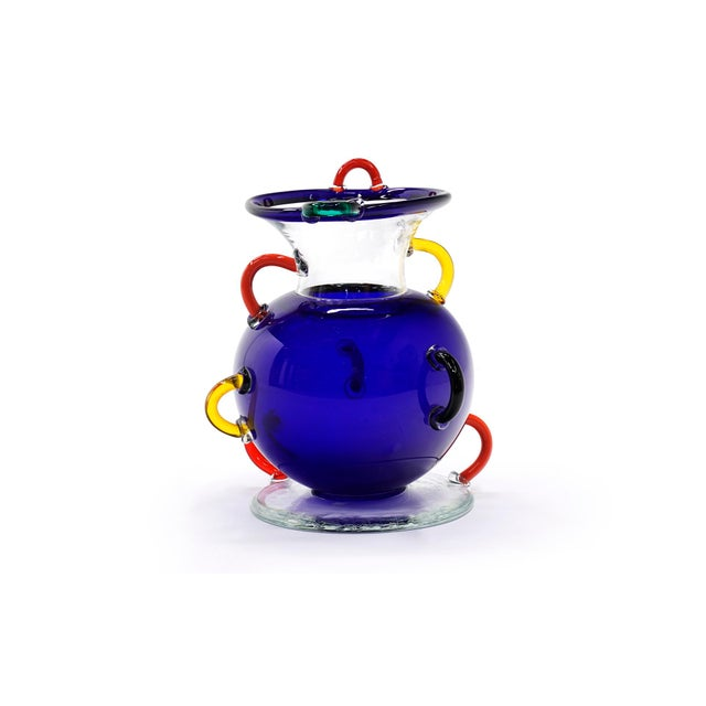 Early Ettore Sottsass Mizar Vase for Memphis Milano, Italy, 1982, Blown Glass For Sale - Image 9 of 9
