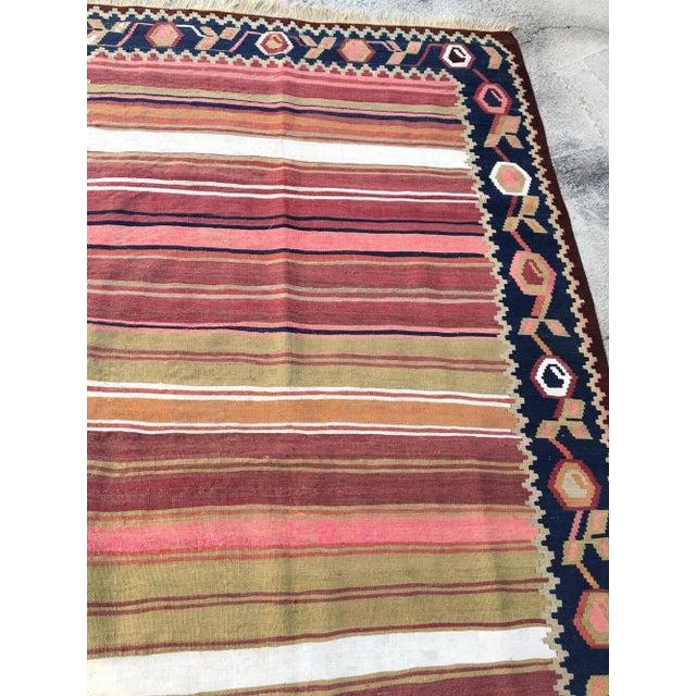 Vintage Turkish Anatolian Kilim Wool Rug - 3′11″ × 6′5″ For Sale - Image 4 of 5