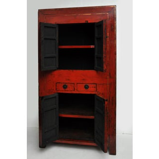Antique Chinese Red Lacquer Cabinet Preview