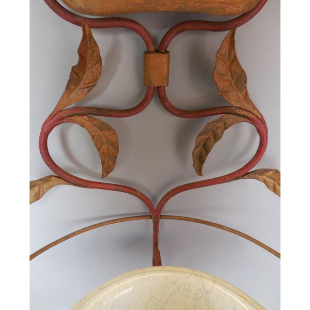 Early 20th Century Art Nouveau Whimsical Garden Sink With Mirror For Sale - Image 5 of 7