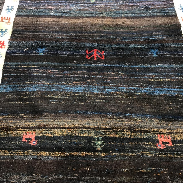 """Vintage Persian Gabe Area Rug- 6'5"""" x 4'7"""" - Image 3 of 11"""