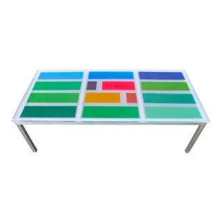 Modern Multi Color Resin Dining Table For Sale