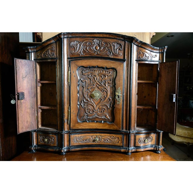 Portuguese Cabinet With Four Seasons Carving For Sale - Image 4 of 10