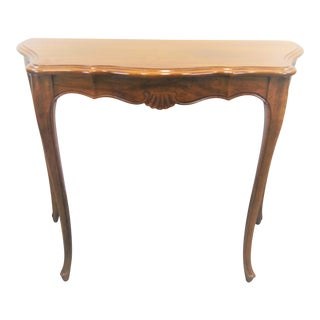 Davis Louis XV Style Cherry Console Table For Sale