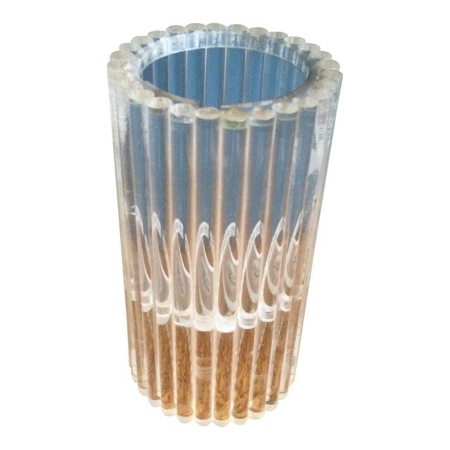 Van Horn Hayward Lucite Candle Holder or Vase - Image 1 of 6