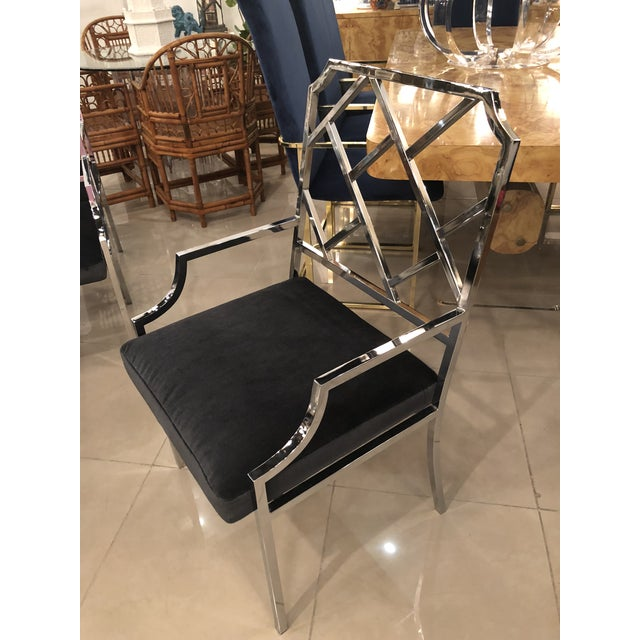 Milo Baughman Dia Design Institute of America Chrome Arm Dining Chairs -Set of 8 For Sale In West Palm - Image 6 of 11