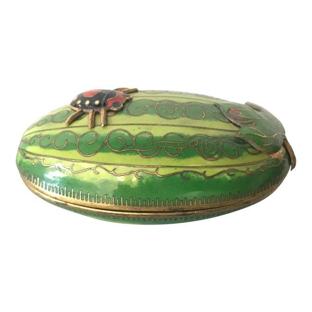"Enamel/Brass ""Ladybug"" Box For Sale"