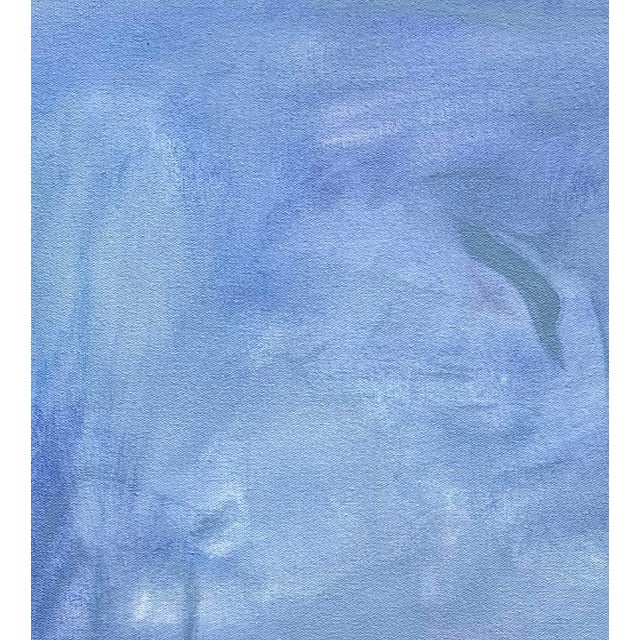 """""""Blue Zen"""" is an abstract expressionist minimalist oil painting on canvas by one of the top selling Chairish Artists..."""