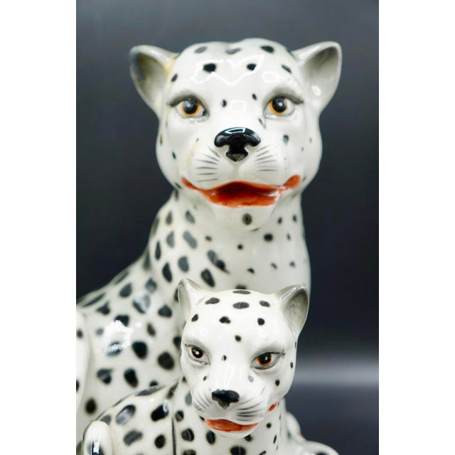 Italian Hand-Painted Snow Leopards For Sale - Image 10 of 11
