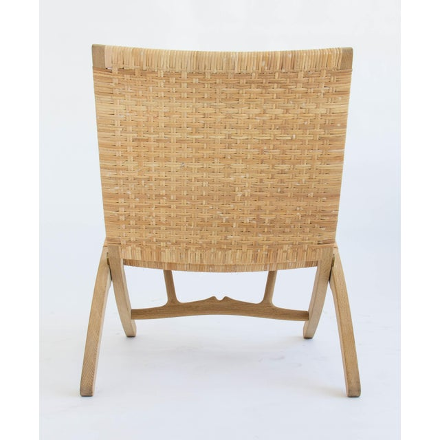 Hans Wegner Folding Lounge Chairs - A Pair For Sale - Image 9 of 11