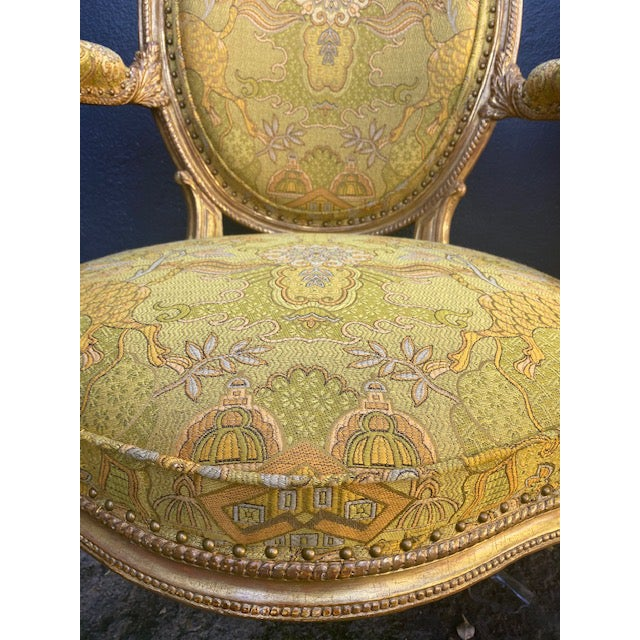 Wood 19th C. English Giltwood Armchairs - a Pair For Sale - Image 7 of 13