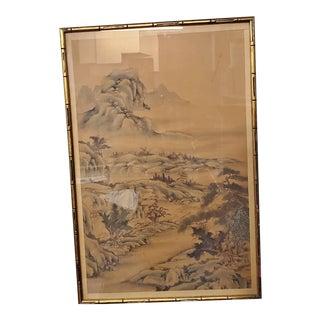 Antique Japanese Scroll, Framed For Sale