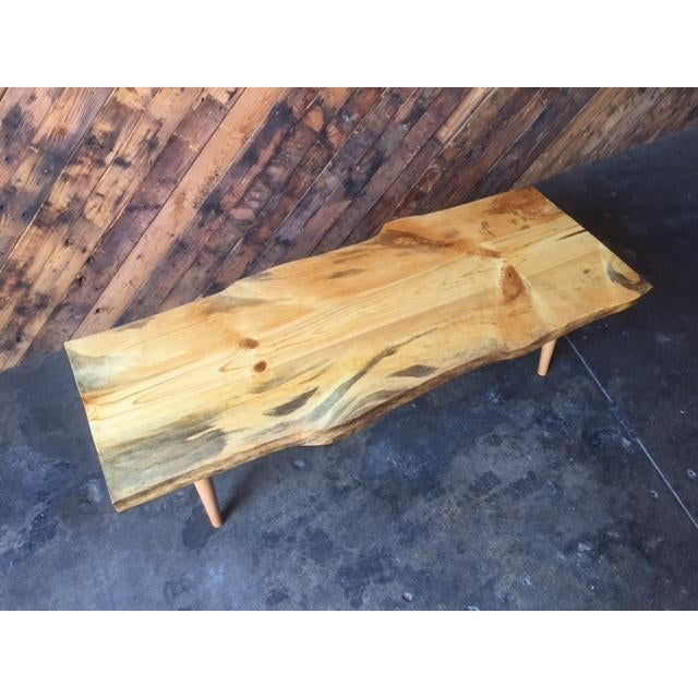Live Edge Northern California Pine Coffee Table For Sale In Los Angeles - Image 6 of 6