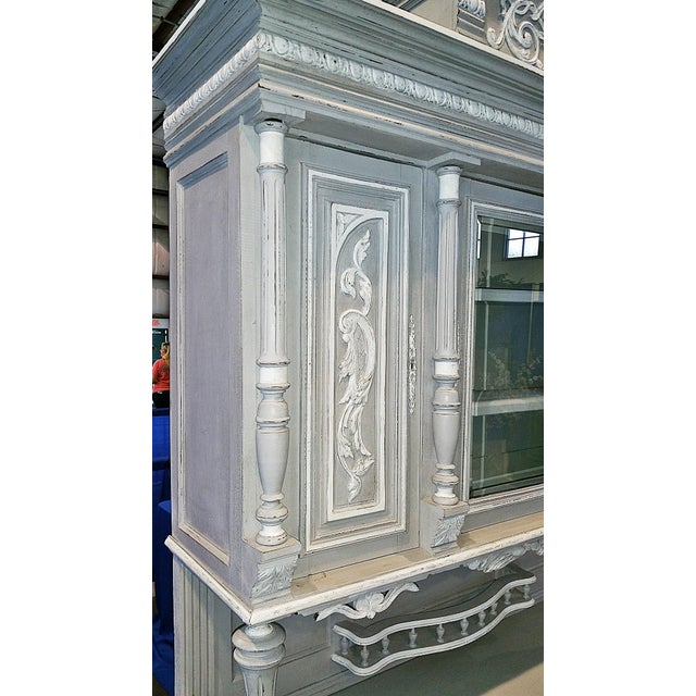 Antique French Painted Hutch For Sale - Image 9 of 11
