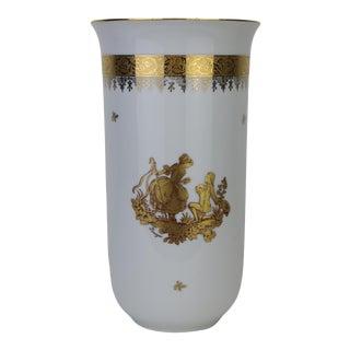 Late 20th Century Limoges Porcelain Vase For Sale