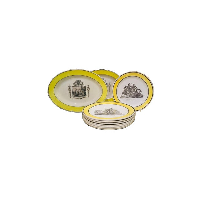 Yellow Collection of Creamware Plates and Serving Pieces For Sale - Image 8 of 8