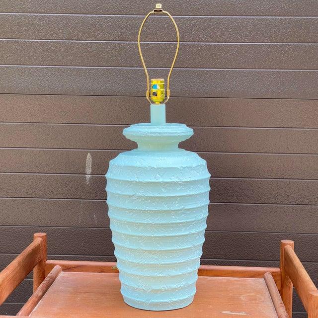 1980s Alsy Light Blue Plaster Table Lamp For Sale - Image 13 of 13