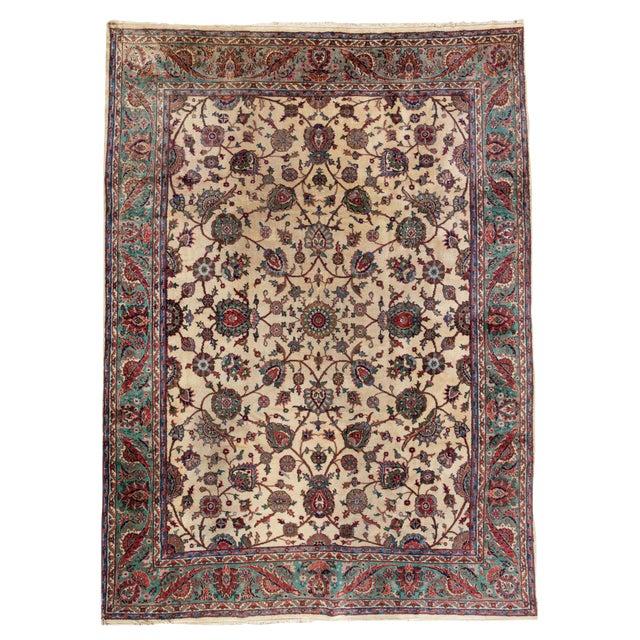 """Vintage Turkish Rug, 10'04"""" X 14'02"""" For Sale"""