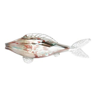 1970s Hand-Made Glass Fish For Sale