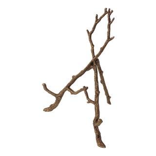 Vintage Tabletop Easel Bronze Twig Motif For Sale