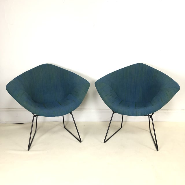 Harry Bertoia Diamond Chair for Knoll / Girard Fabric -A Pair For Sale - Image 10 of 10
