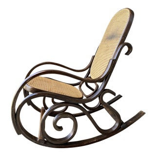 Vintage Bentwood Rocking Chair. For Sale