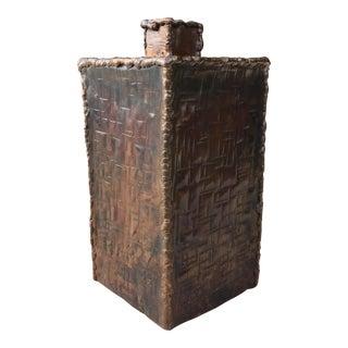 Mid-Century Modern Brutalist Marcello Fantoni Vase for Raymor For Sale