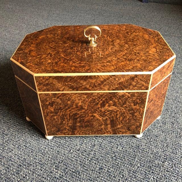 Burled Walnut & Sycamore Box - Image 7 of 7