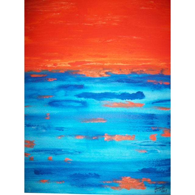 """Driving 'Till Sunset"" Mixed Media Painting For Sale"