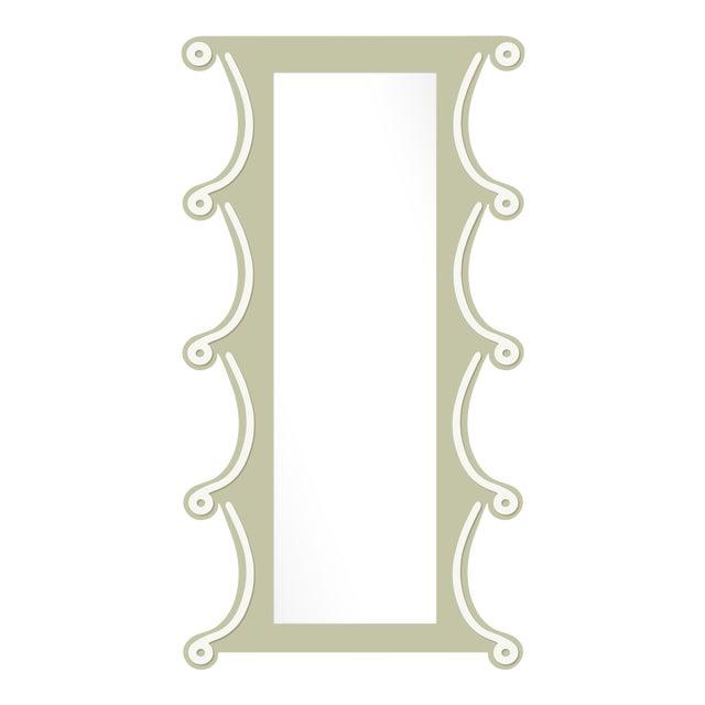 Fleur Home x Chairish Voodoo Mirror in Cooking Apple Green, 42x84 For Sale