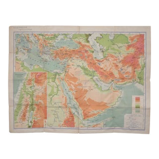 Rare Near & Middle East Map by G.W. Bacon & Co. LTD, London c.1880