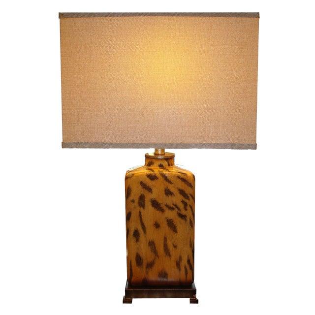Modern Cheetah Print Lamp - Image 1 of 3
