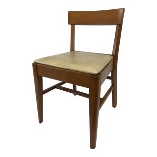 Mid Century Danish Modern Sewing Stool With Storage Seat For Sale